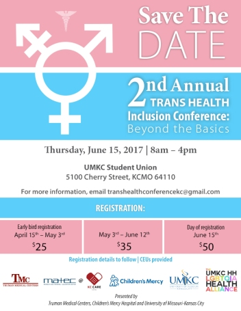 2nd Annual Trans Health Inclusion Conference Save-the-Date